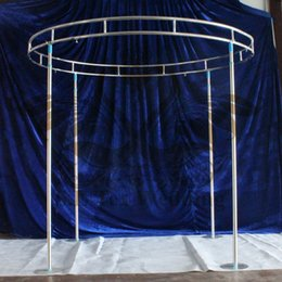 Wedding stage decoration supplies online wedding stage decoration round shape backdrop stand stage stent free shipping for wedding decoration junglespirit Image collections