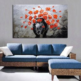 $enCountryForm.capitalKeyWord Canada - Still life 100% hand painted oil painting on canvas orange flowers modern simple wall art paintings home decoration