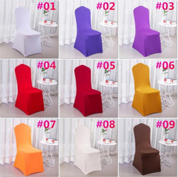 Barato Vestido De Cadeira De Casamento-100 PCS Elastic Chair Set Wedding Dressing Party Party Banquet Banquete de casamento Hotel Decorative c174