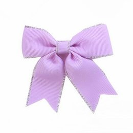 2017 hair bow holders wholesale 200pcs lot Purple Hair Bows PonyTail Holder cheap hair bow holders wholesale