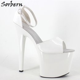 $enCountryForm.capitalKeyWord Canada - Women Sexy Summer Sandal White Shiny Ladies Fetich Exotic 20cm Extreme High Spike Heel +9cm Platform Shoes 2017 Summer White shiny Sandals