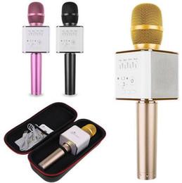 Computer Loudspeakers Canada - Q7 Mini Karaoke Player Wireless Condenser Microphone with Mic Handheld Loudspeaker KTV Singing Record for Smart Phones Computer