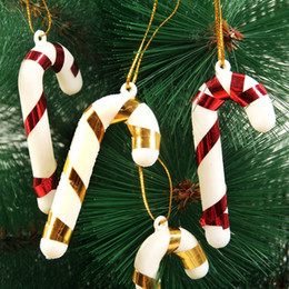 $enCountryForm.capitalKeyWord Canada - Mix Color 7cm Plastic Candy Cane Ornaments Christmas Tree Hanging Decorations For Festival Party Xmas DHL Free Shipping