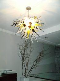 $enCountryForm.capitalKeyWord Australia - Hand Blown Murano Glass Chandelier LED AC 110V -240V Modern Crystal Hotel Decorative Style Glass Chain Chandelier Light
