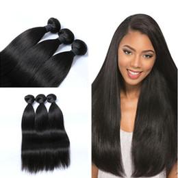 $enCountryForm.capitalKeyWord NZ - 8A Peruvian Malaysian Brazilian hair bundles Human Straight Hair Bundles Natural Color with high quality low price