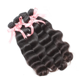 brazilian remy hair extensions wavy 2019 - 5PCS LOT Brazilian Virgin Hair Weave Weft Unprocessed Natural Black Body Wave Wavy Remy Human Hair Extensions 7a greatre