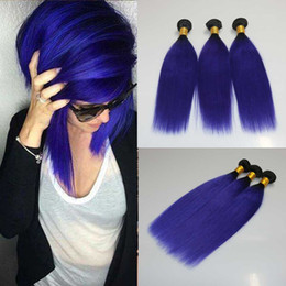 $enCountryForm.capitalKeyWord Canada - Make you charming Purple Ombre Hair Bundles Ombre 1B Purple Hair Extensions Straight Weaves 3Pcs Lot Bundles 100% Human Hair weft