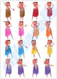 $enCountryForm.capitalKeyWord NZ - new 60CM 5PCS set Plastic Fibers Women Grass Skirts Hawaiian Hula Skirt set cheerleaders costumes Ladies Dress Up