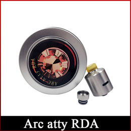 Newest Rda Vape Australia - Newest ARC Atty RDA Clone Vaporizer Drip tip Replaceable Bottom Airflow Vape For E- Cigarettes Rebuildable dripping Atomizer
