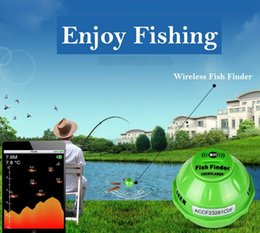 Wifi Dc Canada - Wireless WIFI Sonar Fishing Finder 50M 130 Feet (45M) Deeper Fish Finder Lithium Battery IOS Android App detector Alarm