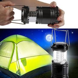 Venta al por mayor de Lámpara de camping LED Linterna plegable al aire libre Linternas de emergencia Portátil Black Collaptible para caminatas Camping Halloween Navidad