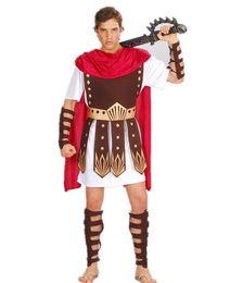 Red Indian Costumes Australia - Ancient Roman Warrior Gladiator Costumes Masquerade Party Women Men Knight Julius Caesar Halloween Adult Cosplay Couple Cotume