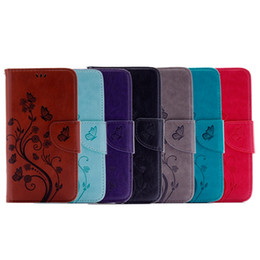 China Strap Flower Wallet Flip Leather Pouch Case For Huawei P9 Lite Honor 7 Samsung Galaxy A8 2018 A7 Card Stand Floral Butterfly Skin Cover 1pcs cheap cover case huawei honor suppliers