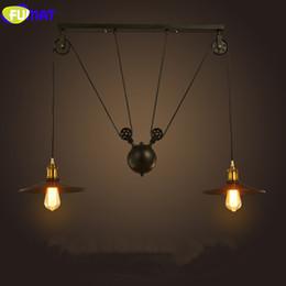 2018 retractable kitchen light FUMAT Pendant Lights American Industrial Pendant L&s for Restaurant Retractable Hangl& Vintage & Discount Retractable Kitchen Light   2018 Retractable Kitchen ... azcodes.com