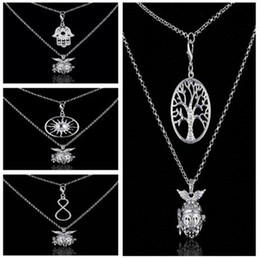 $enCountryForm.capitalKeyWord NZ - 2016 chime Harmony Bola two layer necklace life of tree hand sun letter 8 Angel ball in pendants 4 styles Pregnancy Chain Necklaces