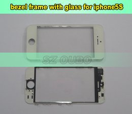 iphone bezel Australia - Outer Glass with Middle Frame Bezel For iPhone 5G 5S 5C Pre-Assembled Front Glass Lens with Frame LCD Refurbish Parts