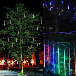 discount falling rain christmas lights new led meteor shower rain lightsdrop icicle snow