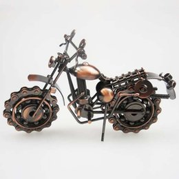 iron metal model motorcycles 2019 - New Creative Hand Soldering Wrought Iron Motorcycle Model Tone Metal Moto Collection Simple Modern Unique Ornaments chea