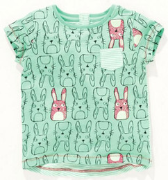 7ae5ff9897229 BST15 NEW ARRIVAL Little Maven Girls Kids Cotton Short Sleeve Rabbit Print  T shirt girls causal summer t shirt Free Ship