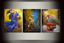 $enCountryForm.capitalKeyWord NZ - 3 Panel Home Decor Art Painting Large Modern Contemporary Fantasy Circus Clown Oil Painting HD Picture Giclee Print Wall Room Printed Canvas