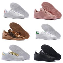 separation shoes a7331 83c9e Venta Al Por Mayor Stan Smith 2018 De Calidad Superior M20324 Mujer De  Cuero Plana Gris Dorado Duro Inferior Zapatillas Deportivas Hombres Mujeres  ...