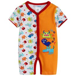 China Monster Baby boys rompers short body suits character newborn one-piece romper 100% Cotton wholesale cheapest bebe roupas Hot supplier cheapest baby suppliers