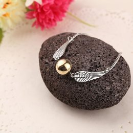 Ball Bracelets NZ - Bronze children Diptera Double wings Bracelets high polished Specular bead Bracelet Mirror surface ball bangle 2017 s006