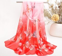 Chiffon butterfly sCarf shawl online shopping - NEW FASHION Colorfull Summer scarf butterfly shoulder chiffon girls scarf Birthday gift Mix Color free ship HWJ