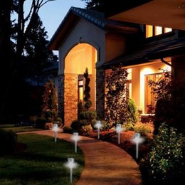 1pcs new stainless steel outdoor led solar lights w builtin stakes u0026 auto on off hot search garden solar stake led for sale