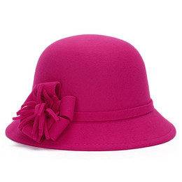 $enCountryForm.capitalKeyWord UK - Ladies Derby Deluxe Flower Hat Party Cloche Billycock Bowler Hats Vintage Princess Top Hat Winter Warm Wool Blend Felt Hat