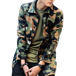 b851279e7b0 Fall-2016 Camouflage Army Men Jacket Hip Hop Autumn Mens Long Turn-down  Collar Camo Trench Cotton Single Breasted Coats MXA0329