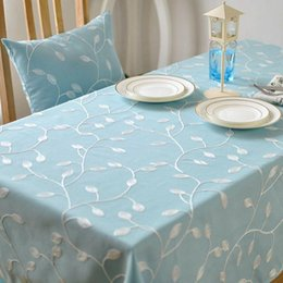 Lovely BZ309 Korean Style Fresh Perspective Embroidered Table Cloth Pastoral  Coffee Table Cloth Table Cloth Cover Towel Factory Outlets