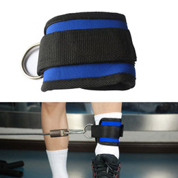 Fitness Cables Canada - D-ring Ankle Anchor Strap Belt Multi Gym Cable Attachment Thigh Leg Pulley Strap Lifting Fitness Exercise Training Equipment