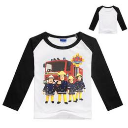 8d2425b9d1cd 2-9Years Bobo Choses 2017 Autumn Sam Fireman Sam T Shirt Boys Clothes Teen  Girls Clothing Toddler Boy Long Sleeve Tops X221