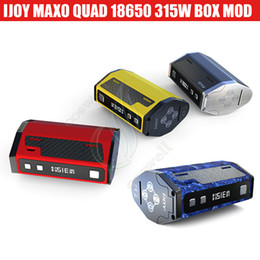 Discount vapor batteries designs - Authentic iJoy Maxo 315W TC Box Mod Quad 18650 battery Firmware Upgradable Customizable Appearance & Ergonomic Design Va