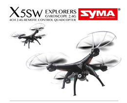 Helicopters Toys Camera Australia - 2018 Original Drones SYMA X5SW WIFI RC Drone FPV Helicopter Quadcopter with HD Camera 2.4G 6-Axis Real Time RC Helicopter chenghai Toys