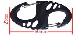 $enCountryForm.capitalKeyWord Canada - 250 pcs Climbing Hook S Type Carabiner Dual Buckle Keychain Mini Black H1E1
