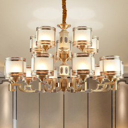 modern lantern lamp NZ - Chinese style copper led chandelier lights lantern high-end personalized classic decorative led chandeliers lighting pendant lamps project