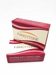Бесплатная доставка по DHL Fancytone 12 цветов Свежие 3-тонные блистерные контактные линзы корпуса Цвет Контакт объектив упаковка коробка