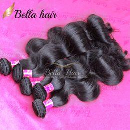 $enCountryForm.capitalKeyWord Canada - Bella Hair® 8A 8-30inch 100% Unprocessed Virgin BrazilianHair Weaves Human Hair Weft Body Wave Wavy Natural Black Color 10 Bundles Wholesale