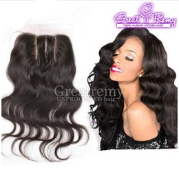 """Discount natural hair hairpieces - 3 Way Part Lace Closure Hairpieces Hair Extensions 8""""-26"""" Mongolian Unprocessed Human Hair Body Wave Natural C"""