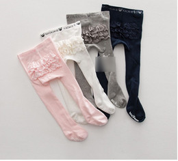 Barato Saias 6t-Baby Girls Tights Pantyhose Leggings Meias para saia de vestido Girls Lace Pantyhose Girl Tights Cute Leggings Meias K8029