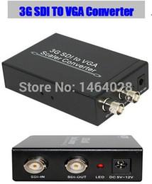 3g box 2018 - Free shipping 3G SDI to VGA converter scaler+audio with power adapter SDI to VGA adapter For CCTV PC Video connect disco