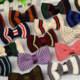 $enCountryForm.capitalKeyWord Australia - men's Bowties double Knitted Bowtie 24 solid Color Adjustable bowknot for Father's Day tie Christmas Gift Free TNT Fedex UPS