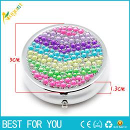 Wholesale Fashion Style Pill Classic Lady Round Tin Box Metal Storage Box Retro Jewelry Case Candy Box pill case Case new