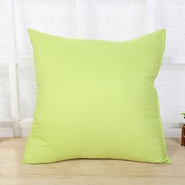 General pillow online shopping - DHL High quality Pull plush Solid pillow case Personality tailor made PP cotton Pillow cm Four Seasons General Without filler