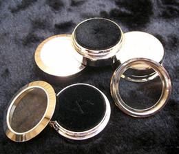 $enCountryForm.capitalKeyWord Canada - Wholesale Circle Round Diamond Display Box Fine Stainless Steel Metal gemstone Diamond Cases 3.2*1.5(cm)