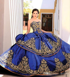 Prom dress sexy lace bodice online shopping - 2019 Elegant Blue Sweetheart Embroidery Ball Gown Princess Quinceanera Dresses Lace Bodice Waist Backless Prom Dresses Quinceanera Gowns