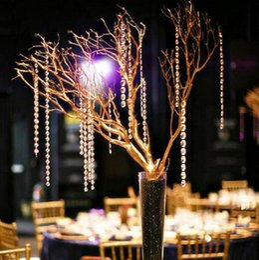 crystal garland clear 2019 - 50m lot Clear Acrylic Crystal Octagonal Bead Curtain Garland Strands DIY Craft Hanging Ornament for Wedding Party Suppli