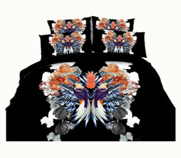 $enCountryForm.capitalKeyWord Canada - 3 Styles Fashion Pineapple Bird 3D Printed Bedding Set Twin Full Queen King Size Duvet Quilt Covers Pillowcase Comforter Animal 600TC 3 4PCS
